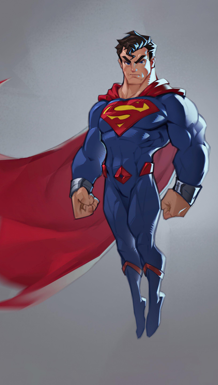 Wallpaper Superman Minimalist design Vertical
