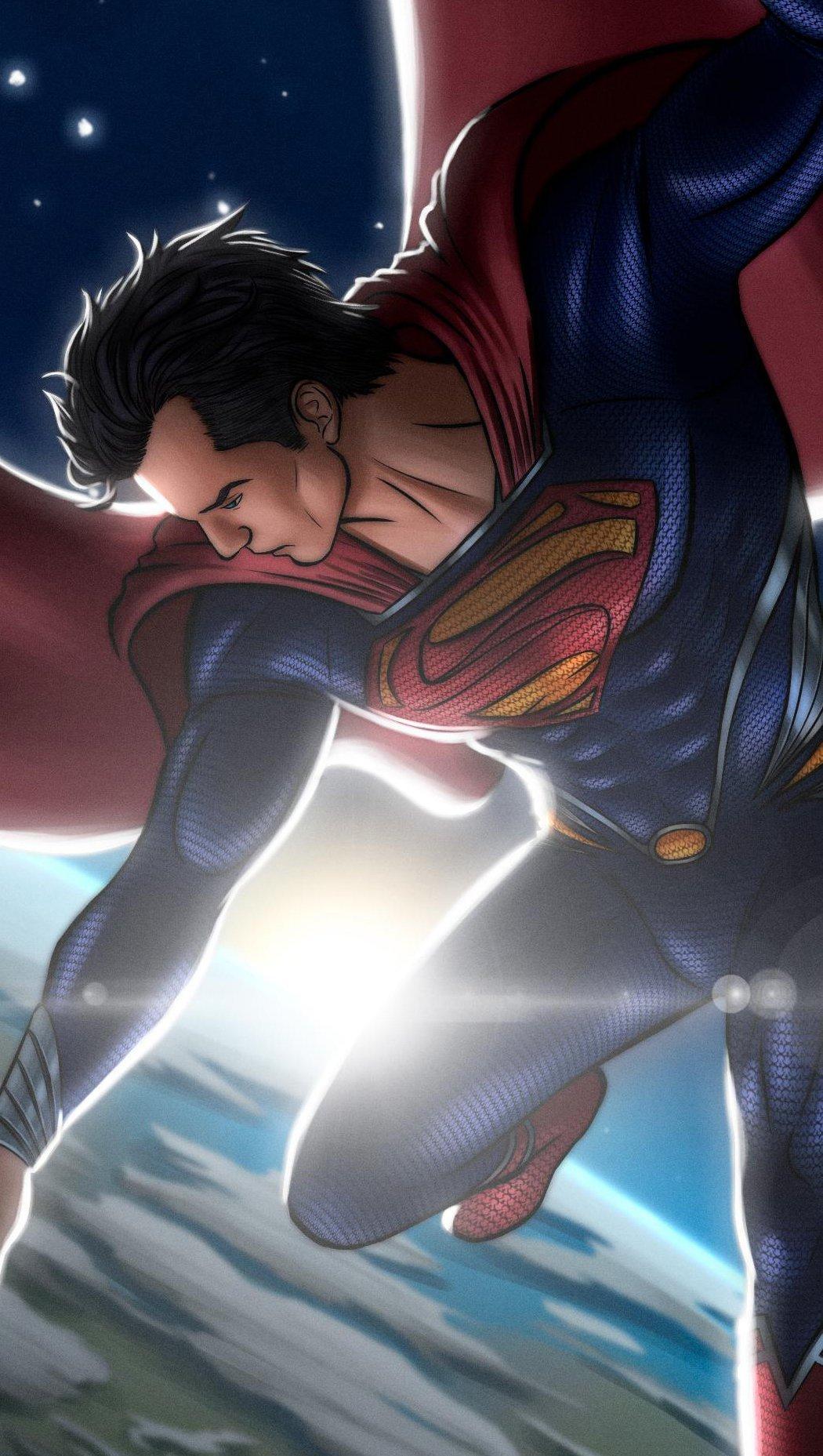 Fondos de pantalla Superman en el espacio Vertical