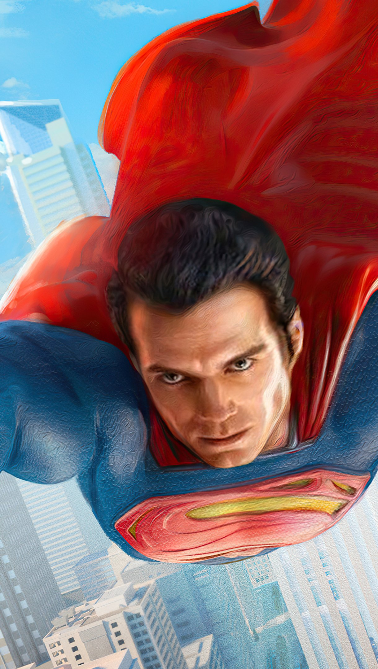 Fondos de pantalla Superman en la ciudad Vertical
