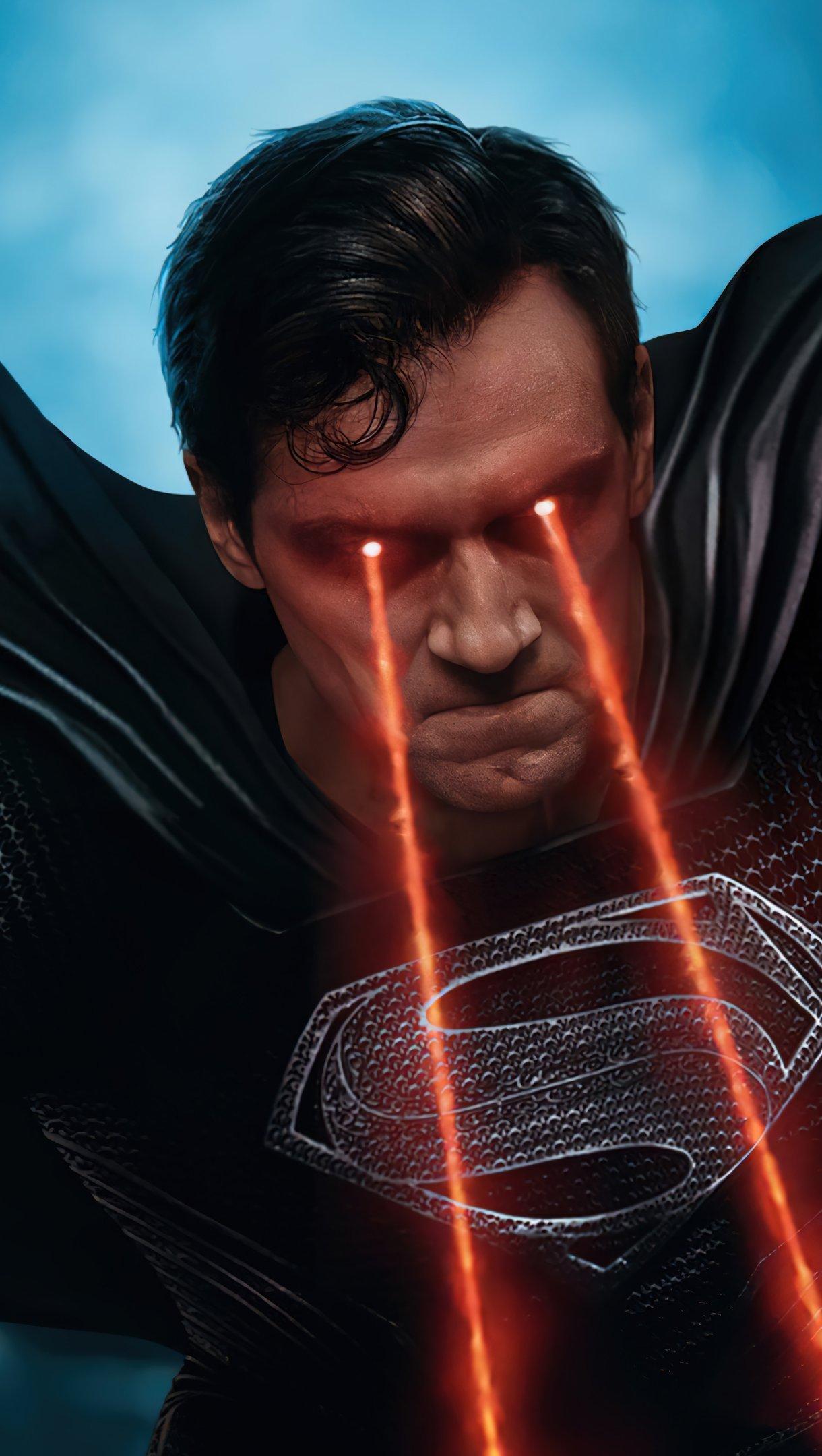 Fondos de pantalla Superman traje negro Liga de la justicia Snyder cut Vertical