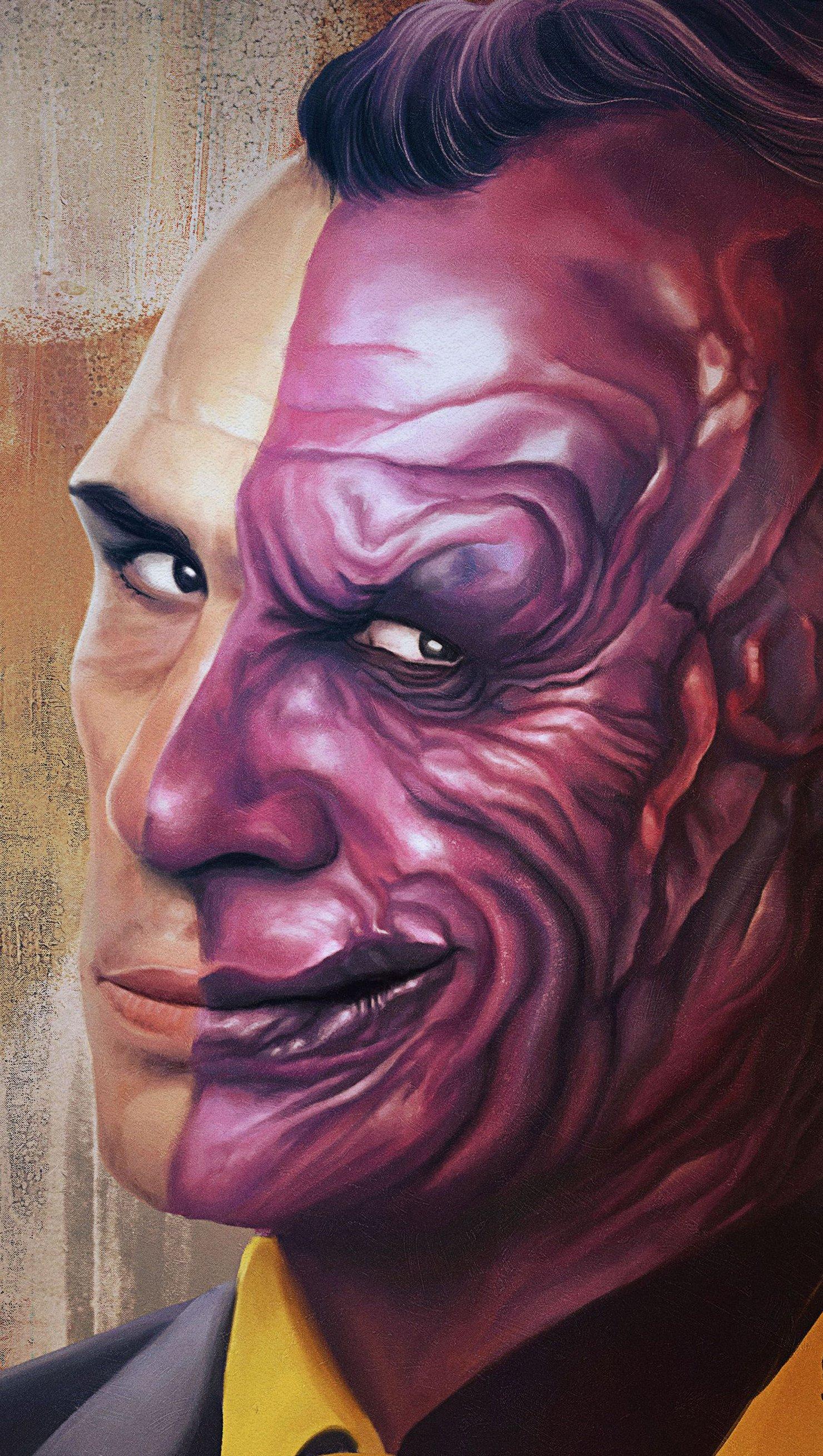 Wallpaper Supervillain Two Face Vertical