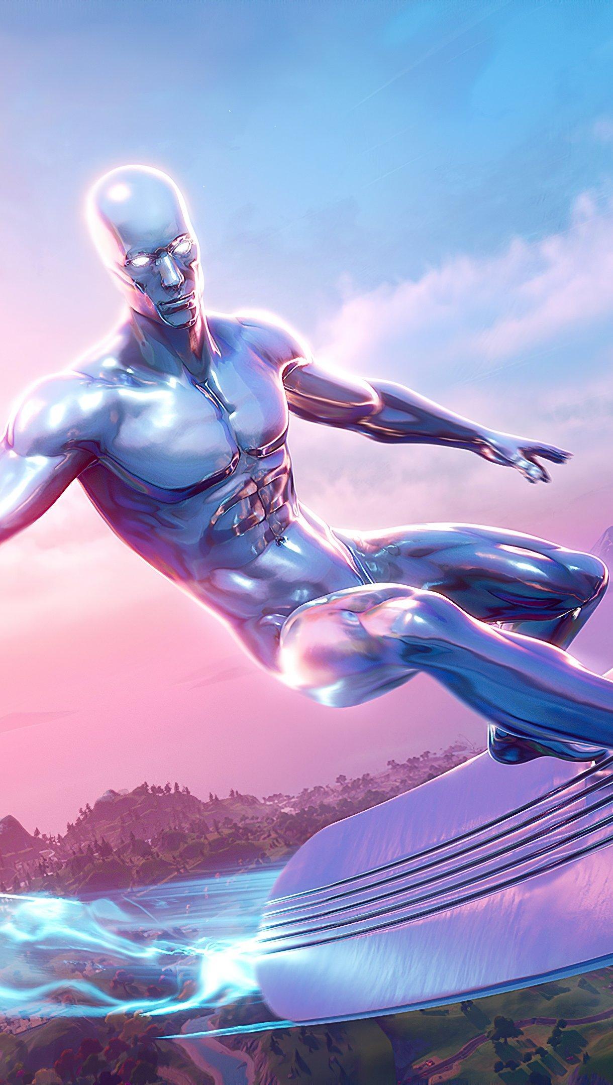 Silver Surfer Fortnite Season 4 Wallpaper 4k Ultra Hd Id 6218