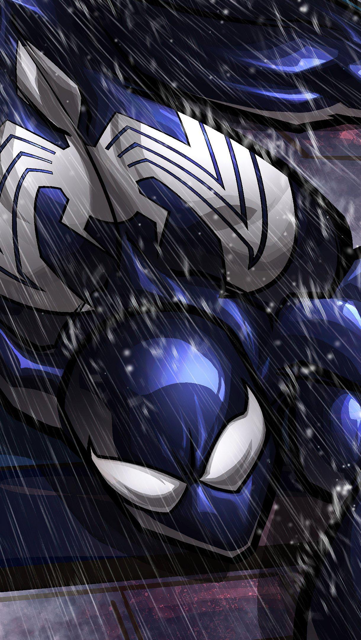Fondos de pantalla Symbiote Spidey escalando muro Vertical