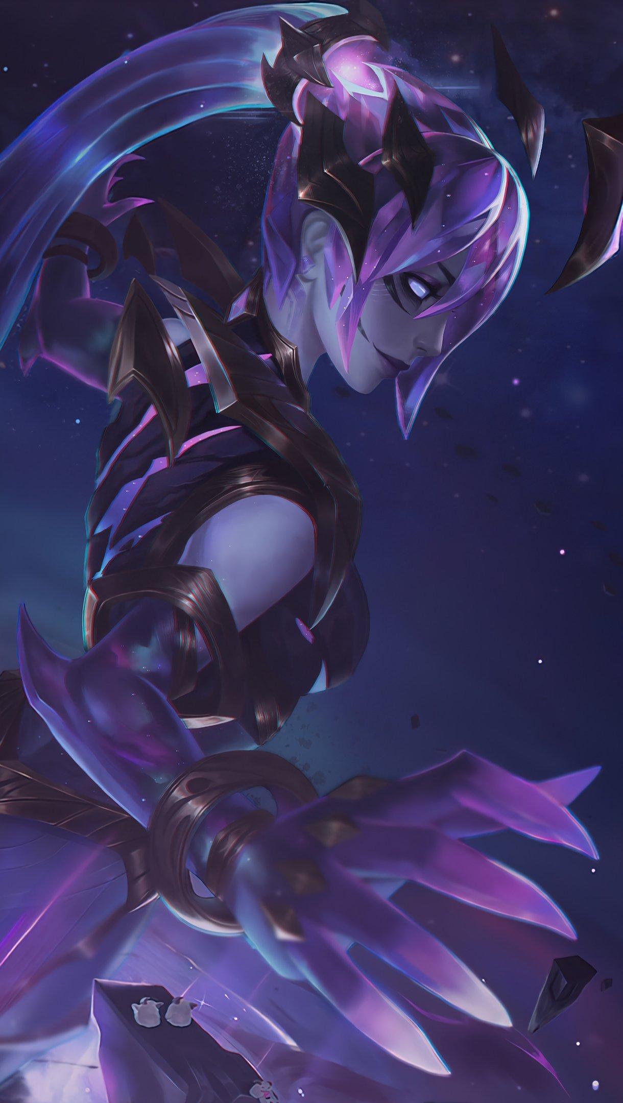 Wallpaper Syndra Dark Star League of Legends Vertical