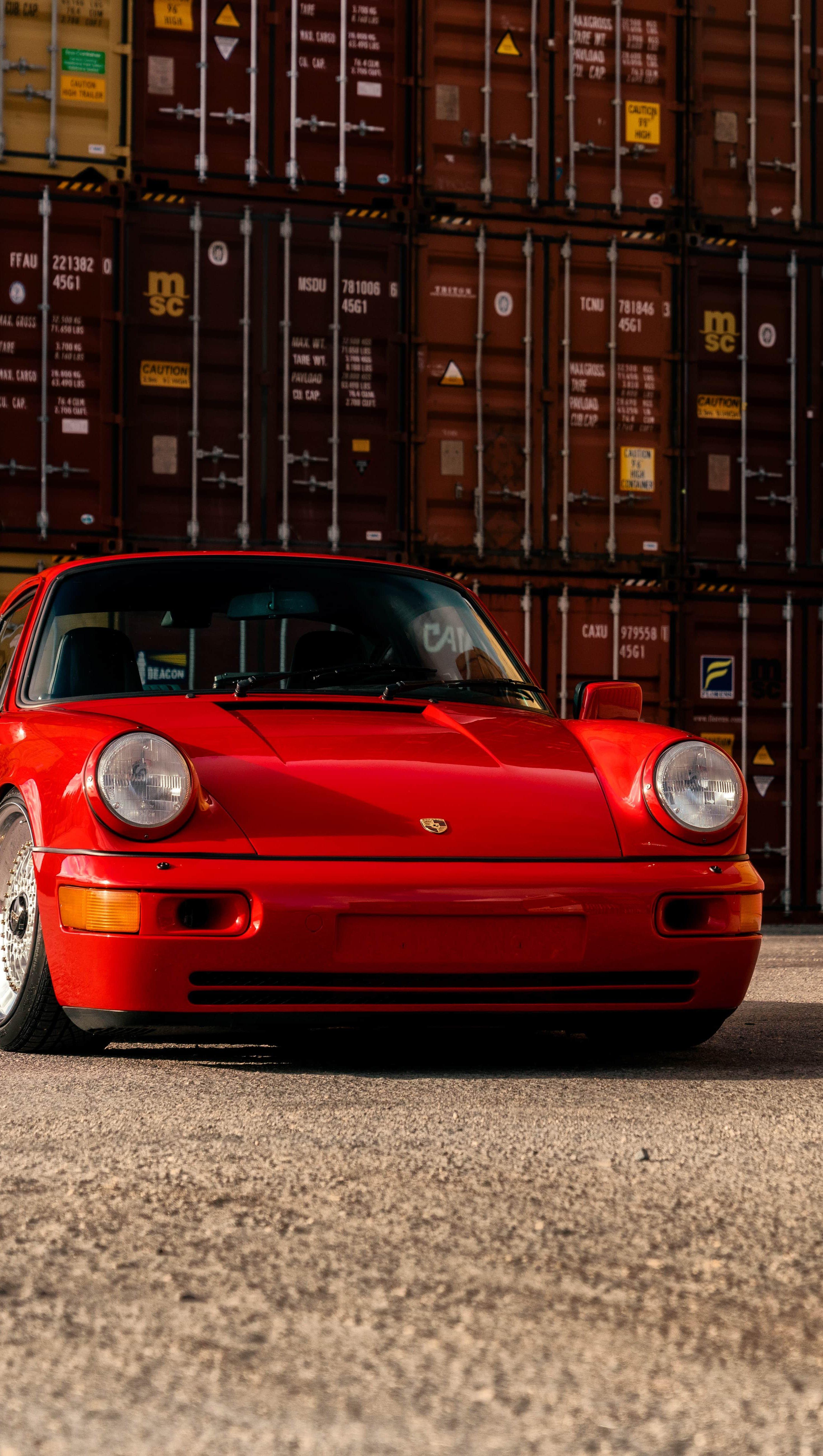 Wallpaper Taco Red Porsche Vertical