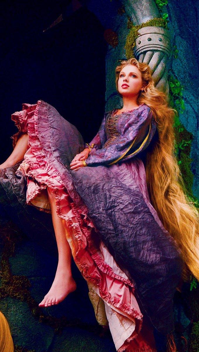 Wallpaper Taylor swift as Rapunzel Vertical