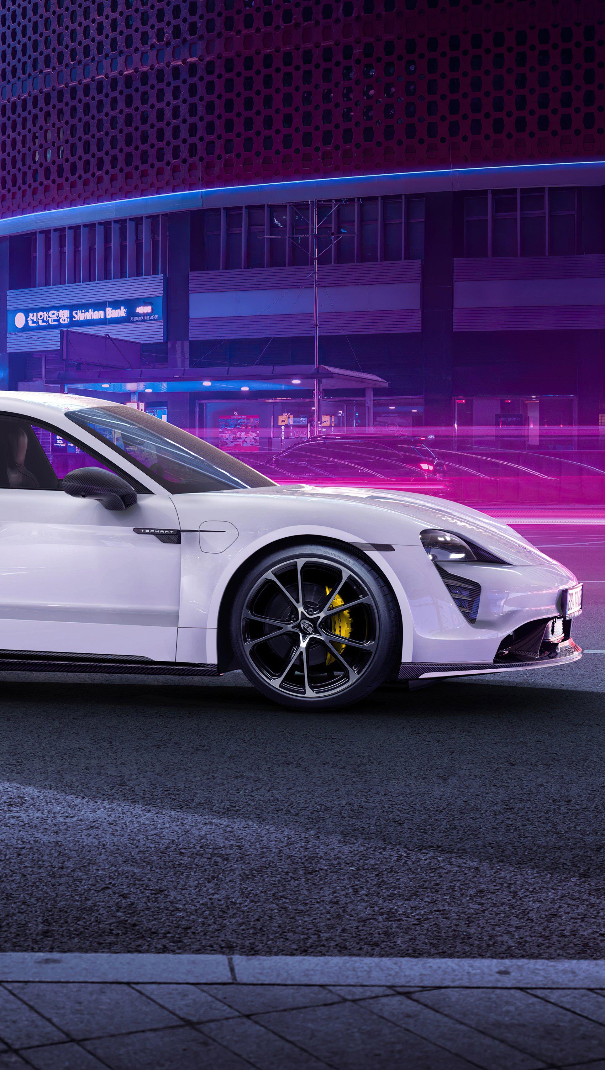 Fondos de pantalla Techart Porsche Taycan Aerokit 2021 Vertical