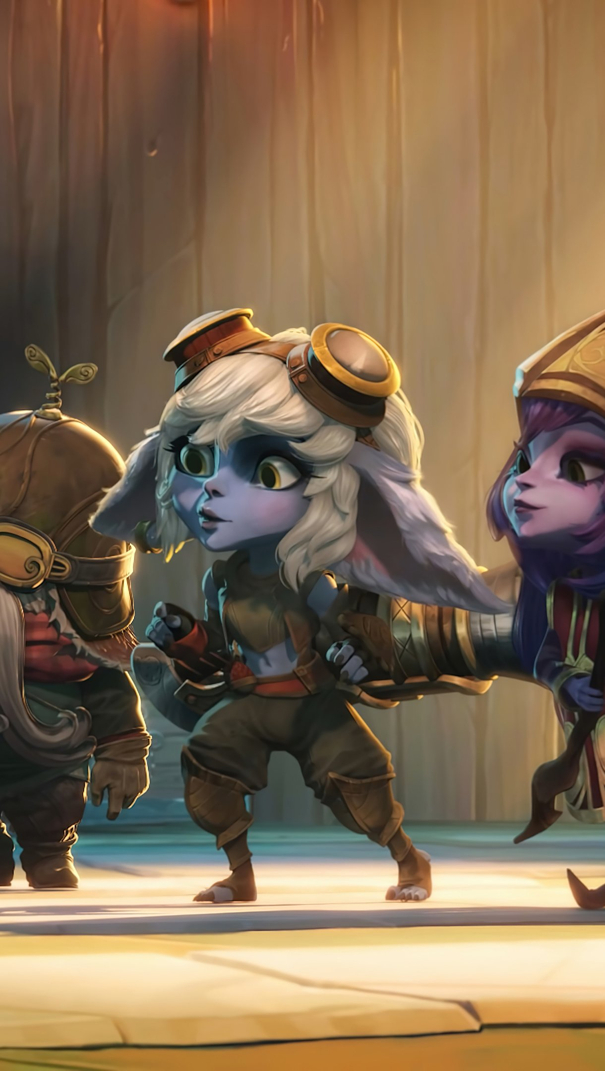 Wallpaper Teemo, Corki, Tristana and Lulu from League of Legends Vertical