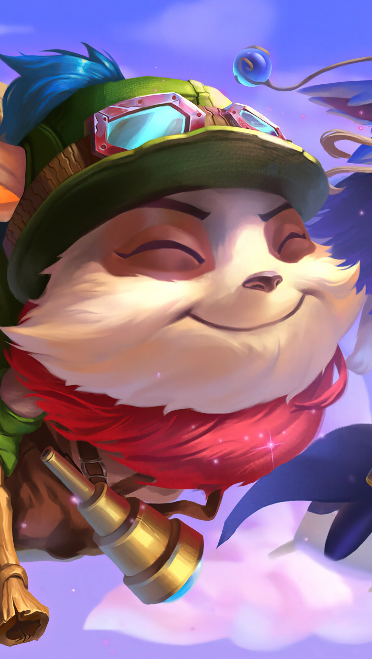 Wallpaper Teemo and Lulu from League of Legends Vertical