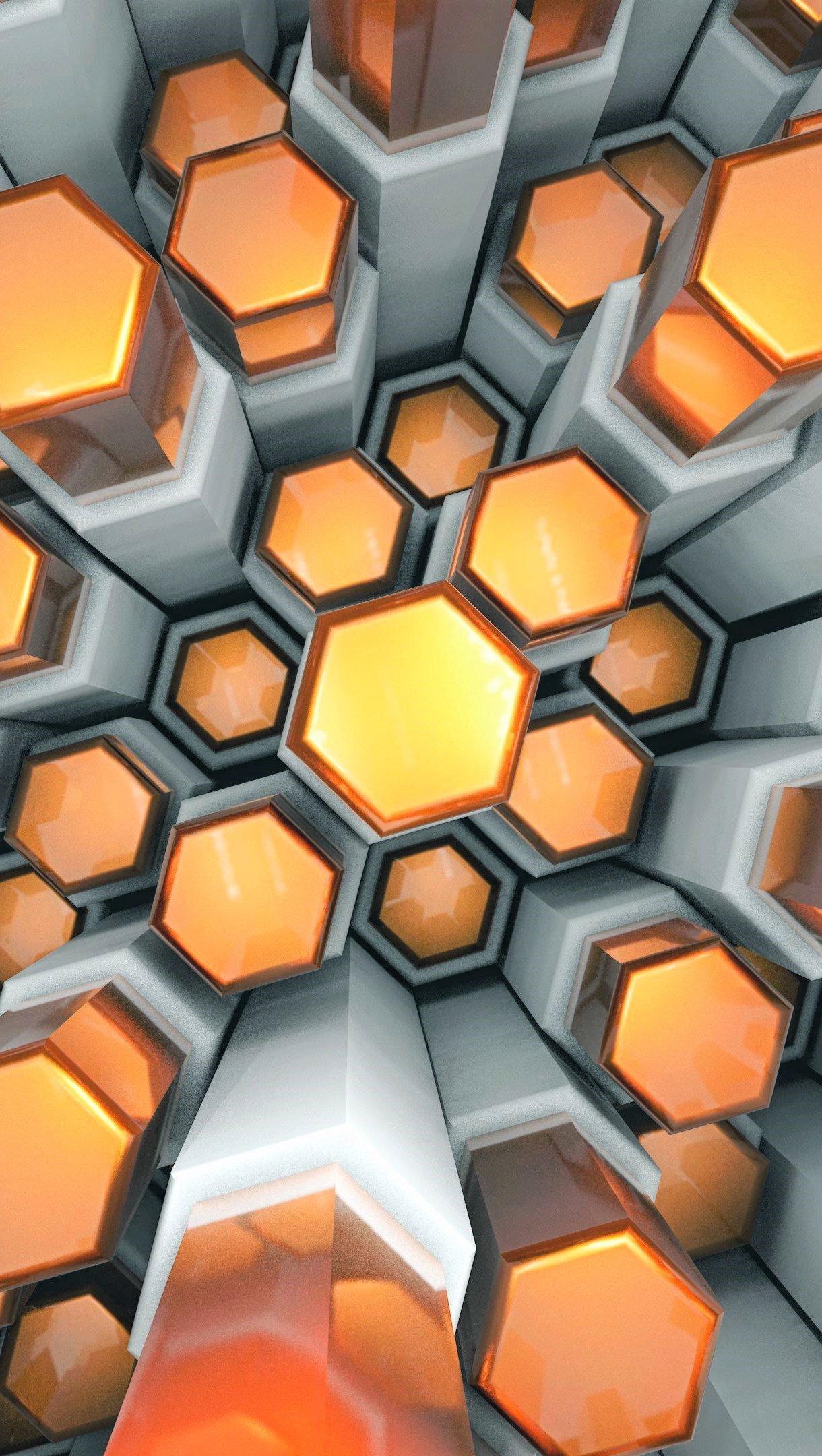 Wallpaper Texture of hexagons Vertical