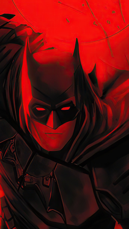 Fondos de pantalla The Batman Flama roja Vertical
