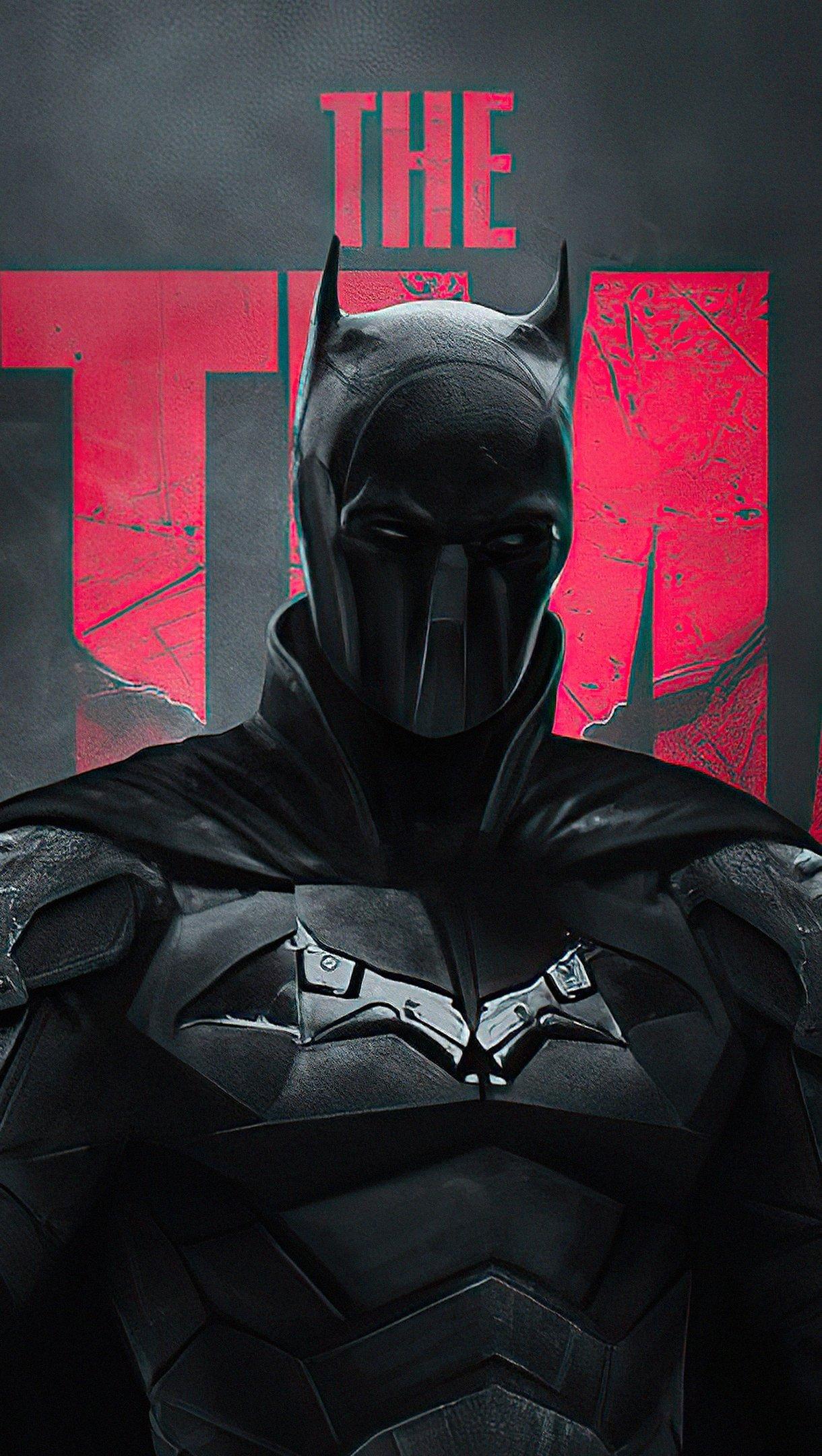 Wallpaper The Batman DC Darkness Vertical