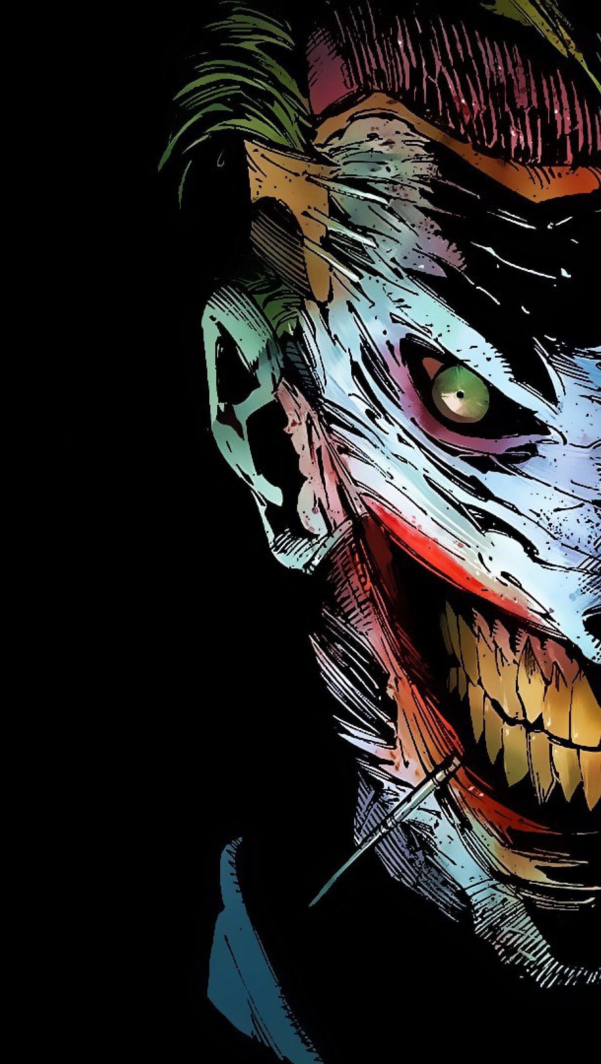 Wallpaper The Jokers Smile Vertical