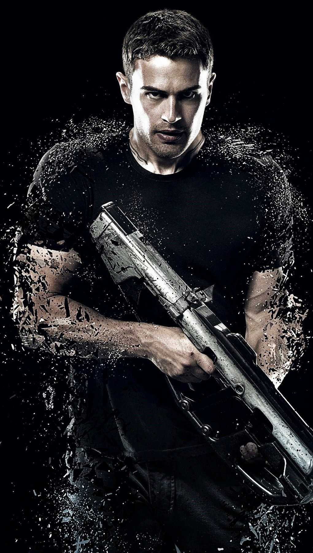 Wallpaper Theo James for Insurgent Vertical