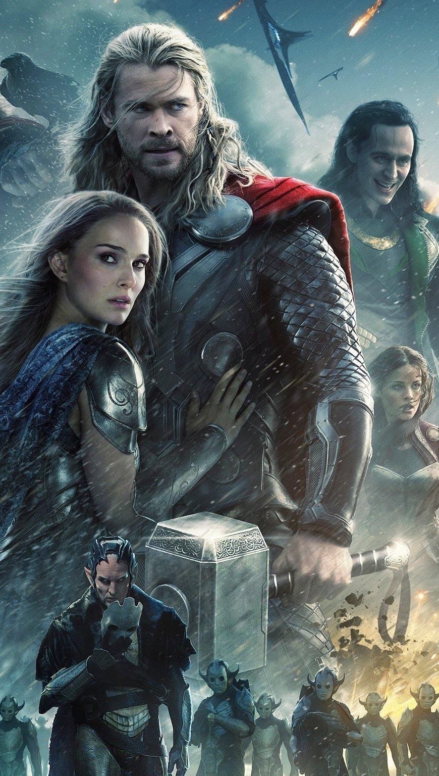 Wallpaper Thor 2 The dark world Vertical
