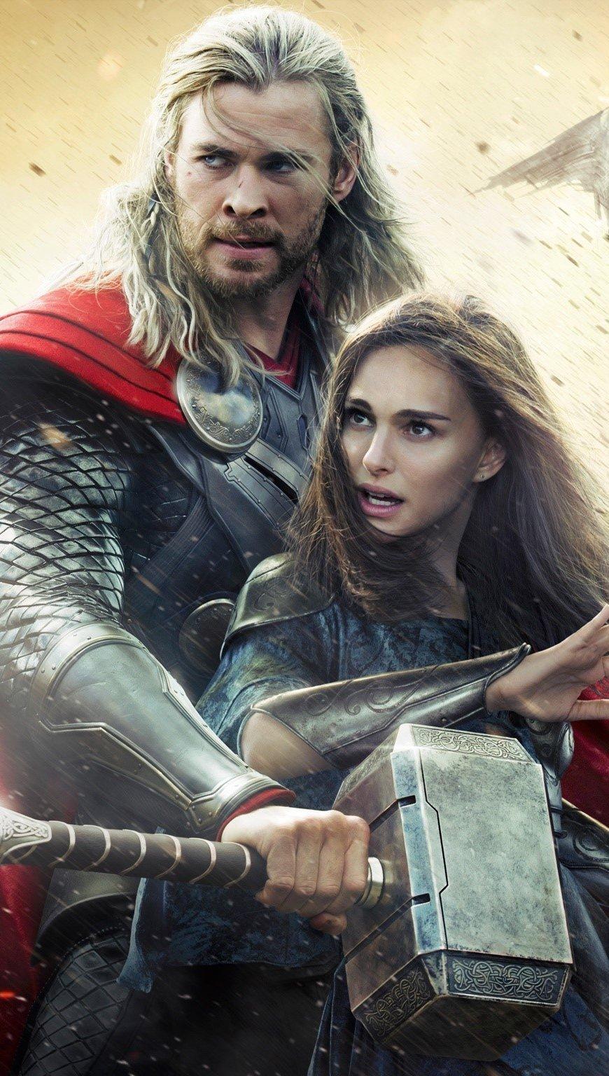 Fondos de pantalla Thor y Jane Vertical