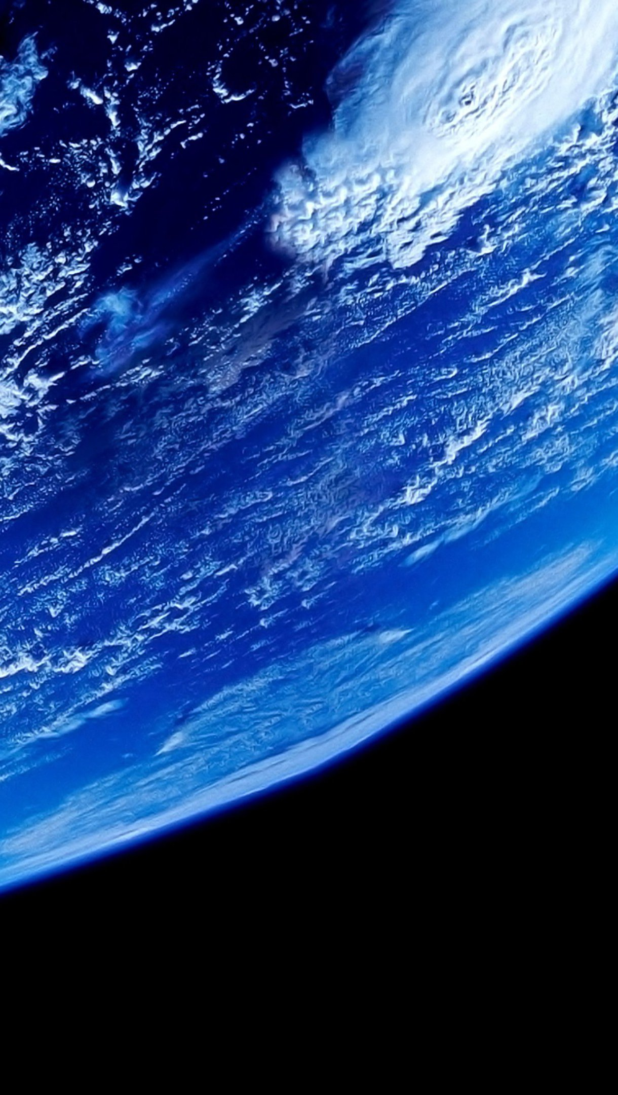 Wallpaper Earth from space Vertical