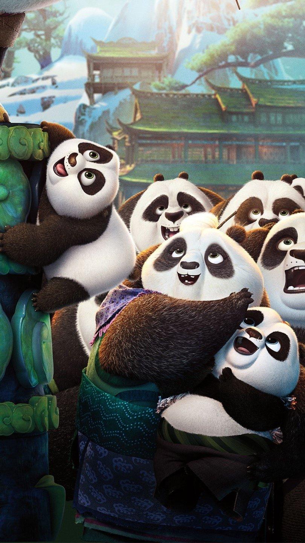 Fondos de pantalla Todos los pandas de Kung fu Panda 3 Vertical
