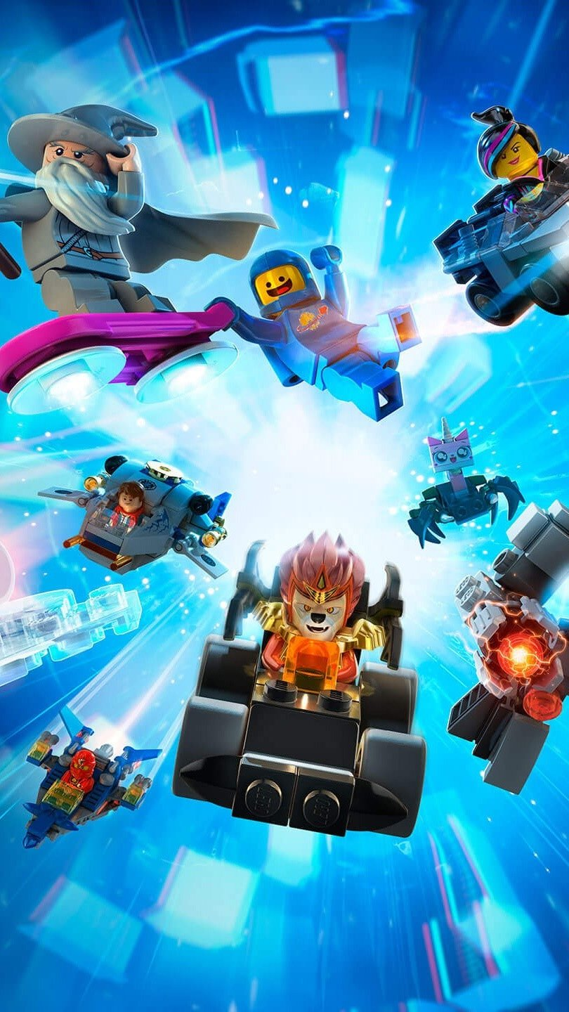 Wallpaper All the characters of Lego Dimensions Vertical
