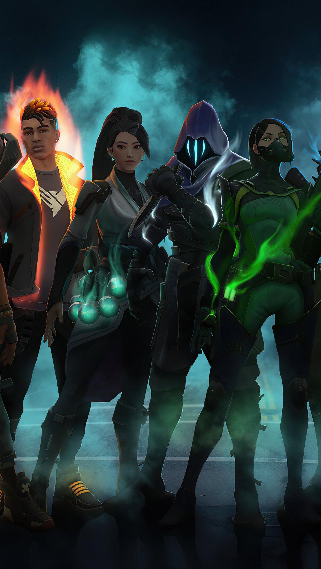 Fondos de pantalla Todos los personajes de Valorant Vertical