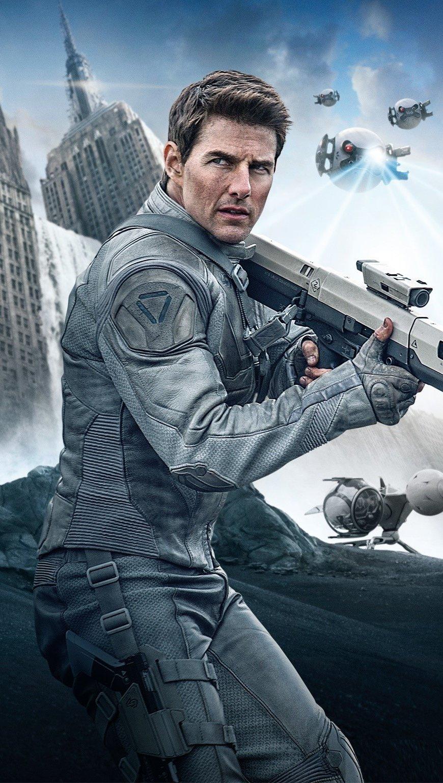 Wallpaper Tom Cruise for Oblivion Vertical