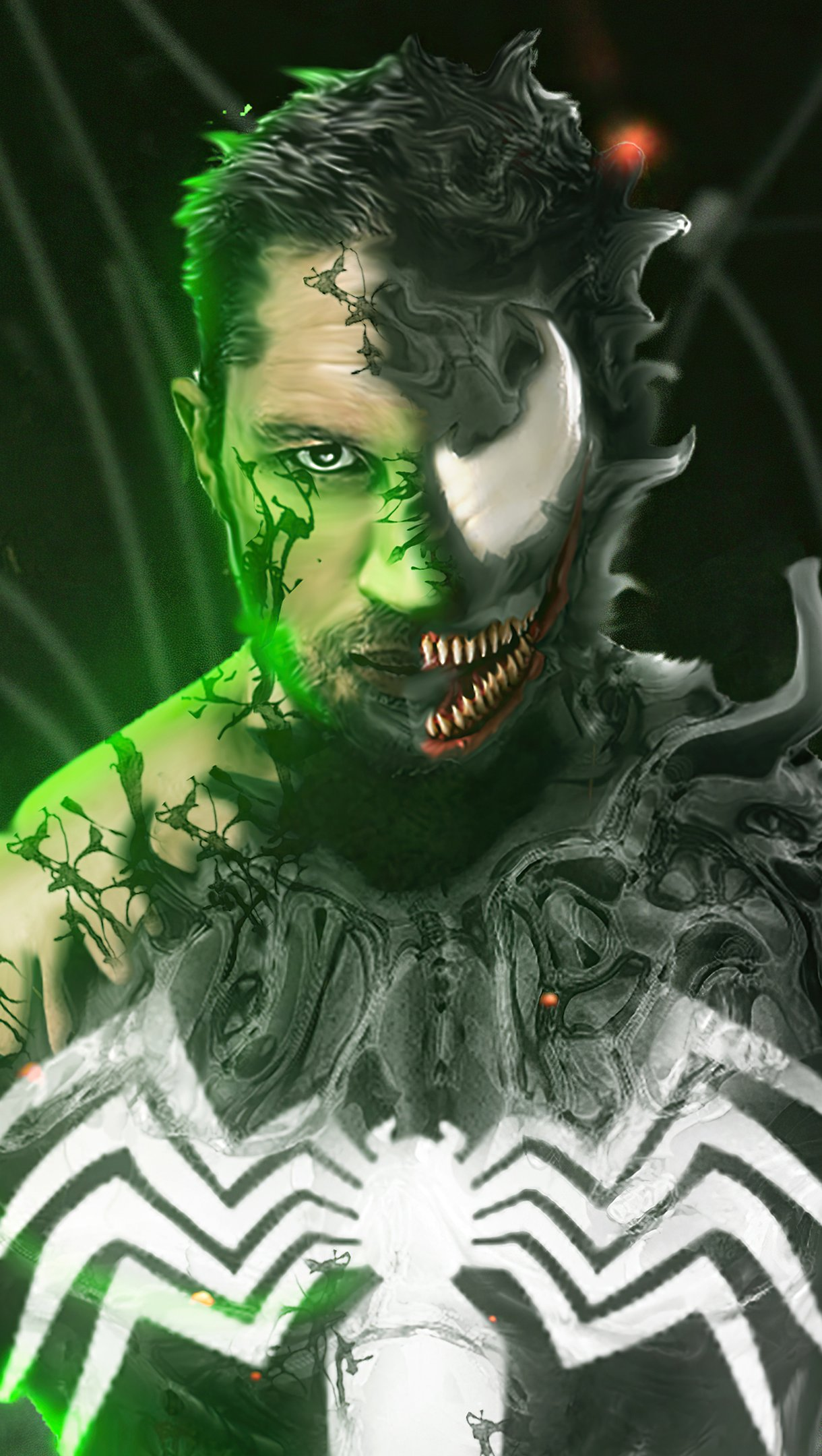 Wallpaper Tom Hardy as Venom Vertical