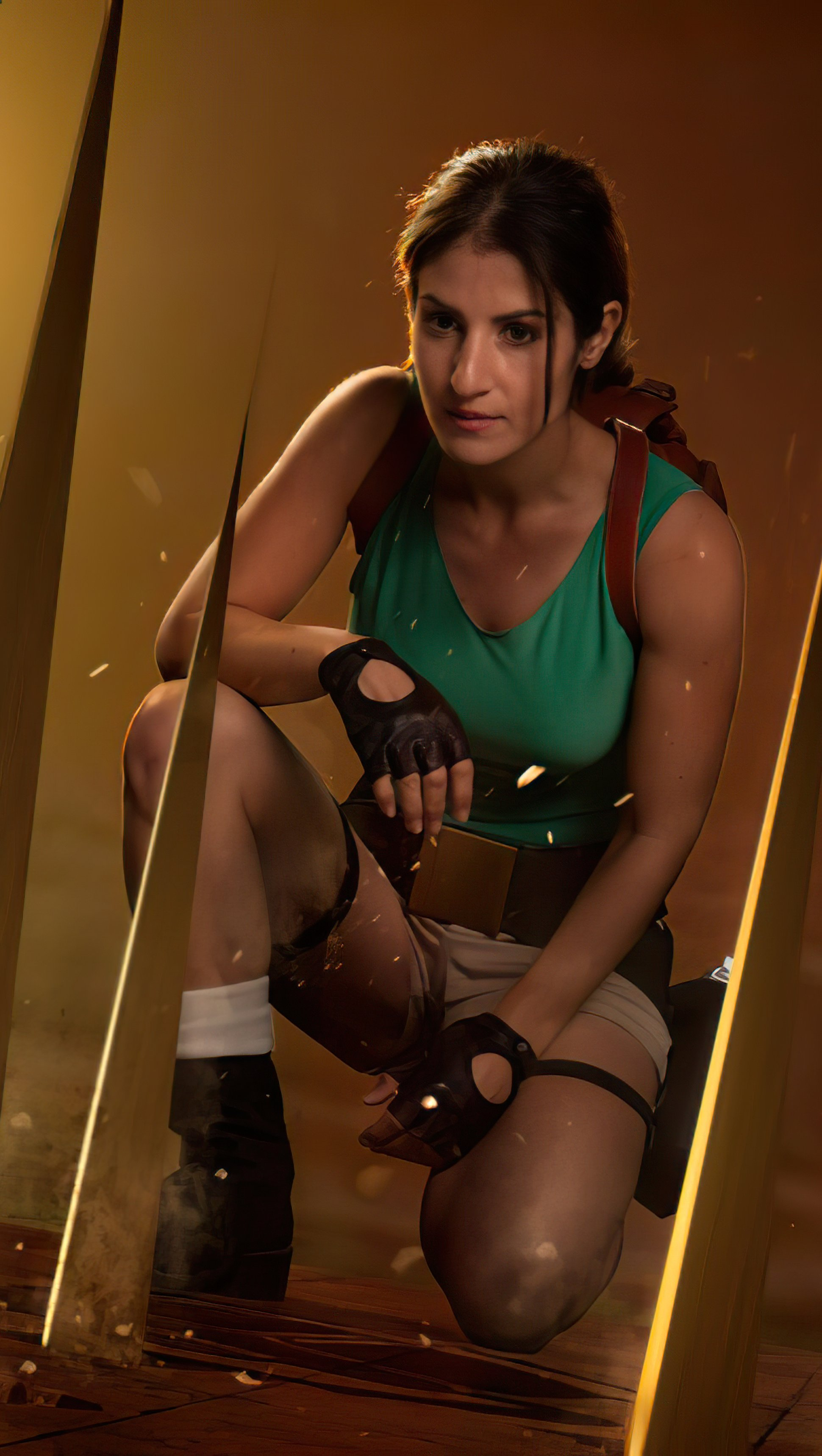 Fondos de pantalla Tomb Raider 4 Lara Croft Cosplay Vertical