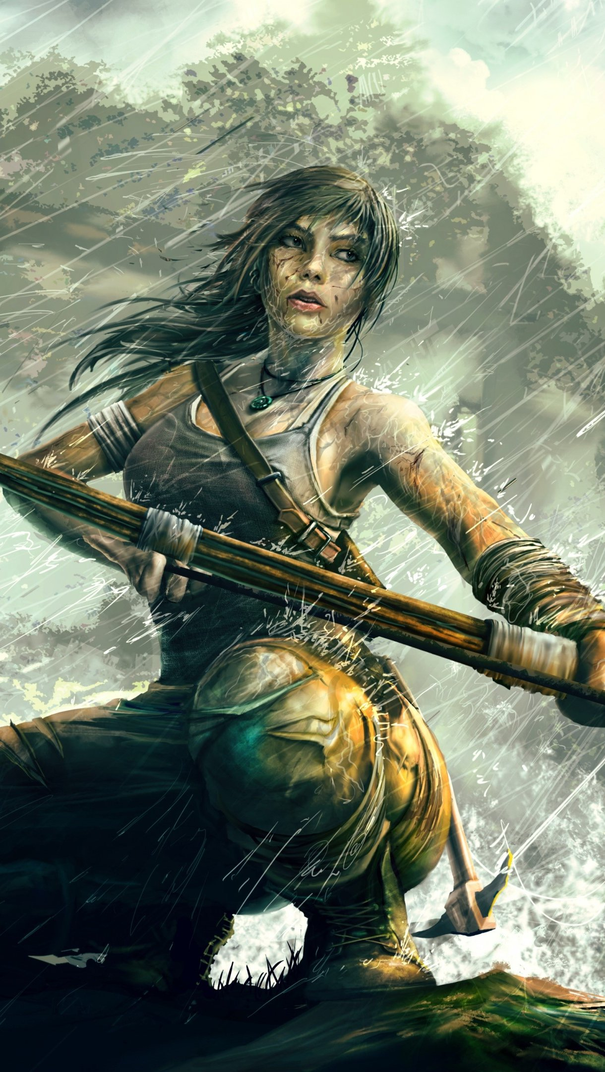 Wallpaper Tomb Raider Reborn Lara Croft Art Vertical