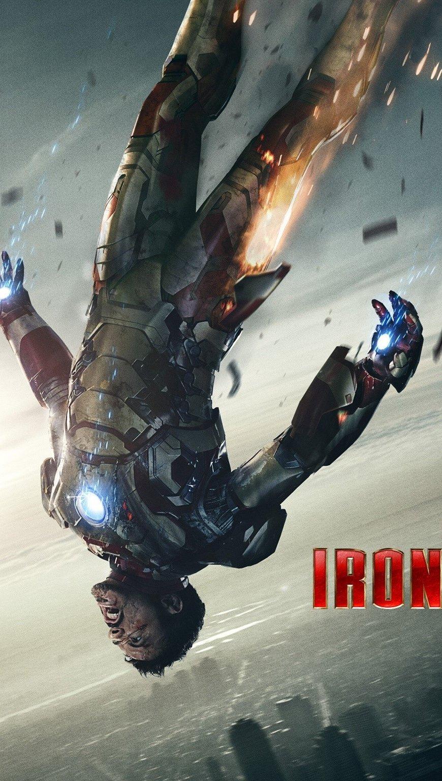 Wallpaper Tony Stark in Iron Man 3 Vertical