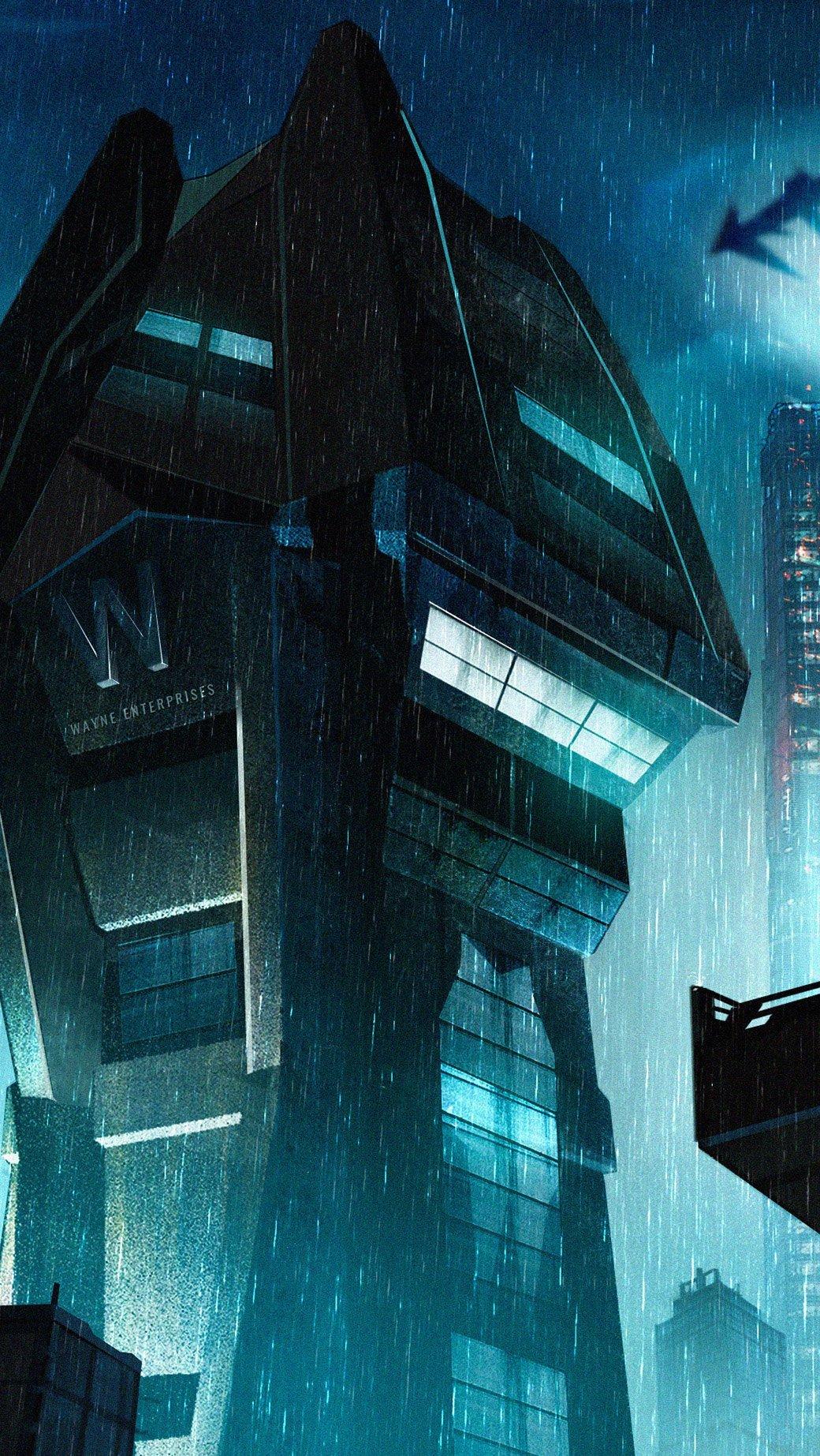 Fondos de pantalla Torre Wayne en Ciudad Gótica Vertical