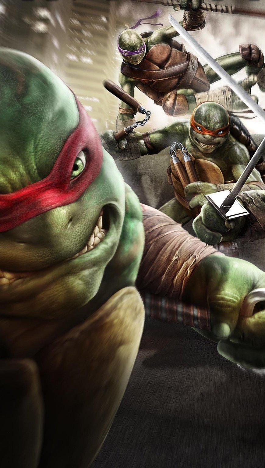 Wallpaper Ninja Turtles Vertical