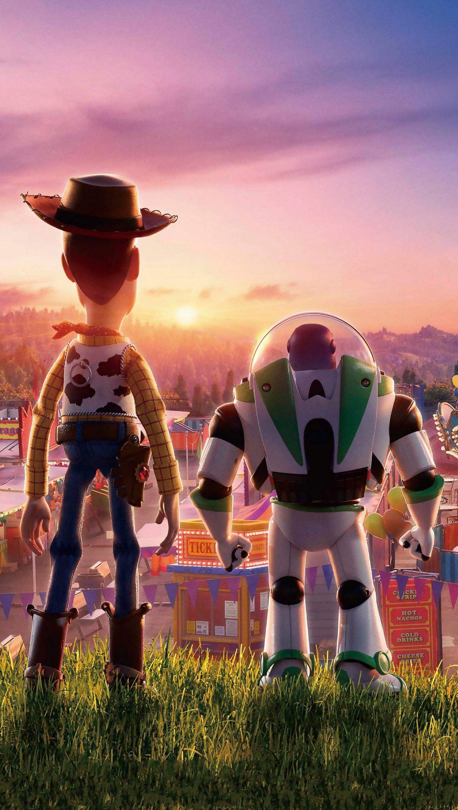 Fondos de pantalla Toy Story 4 Woody y Buzz Lightyear Vertical
