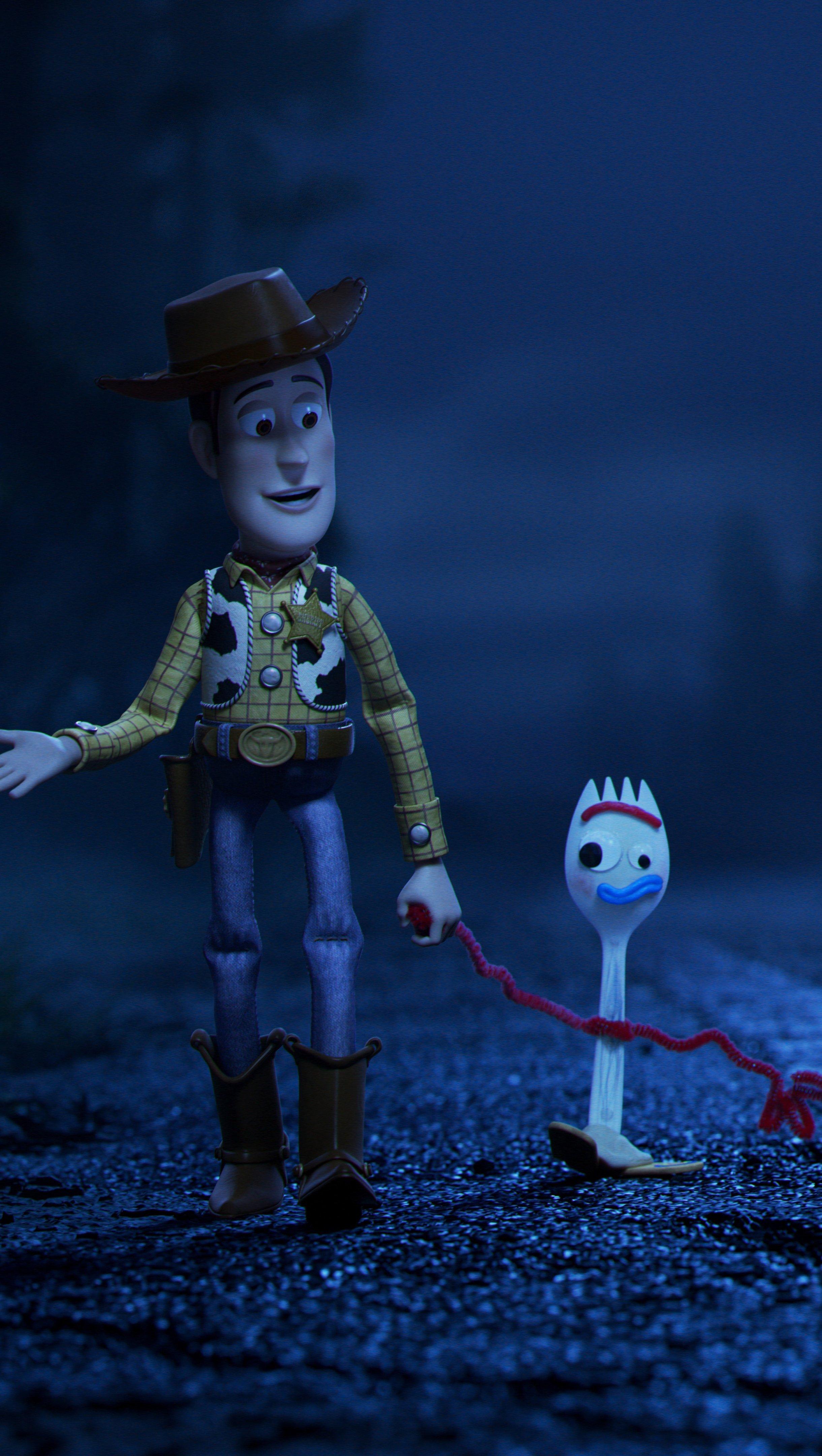 Fondos de pantalla Toy Story 4 Woody y Forky Vertical