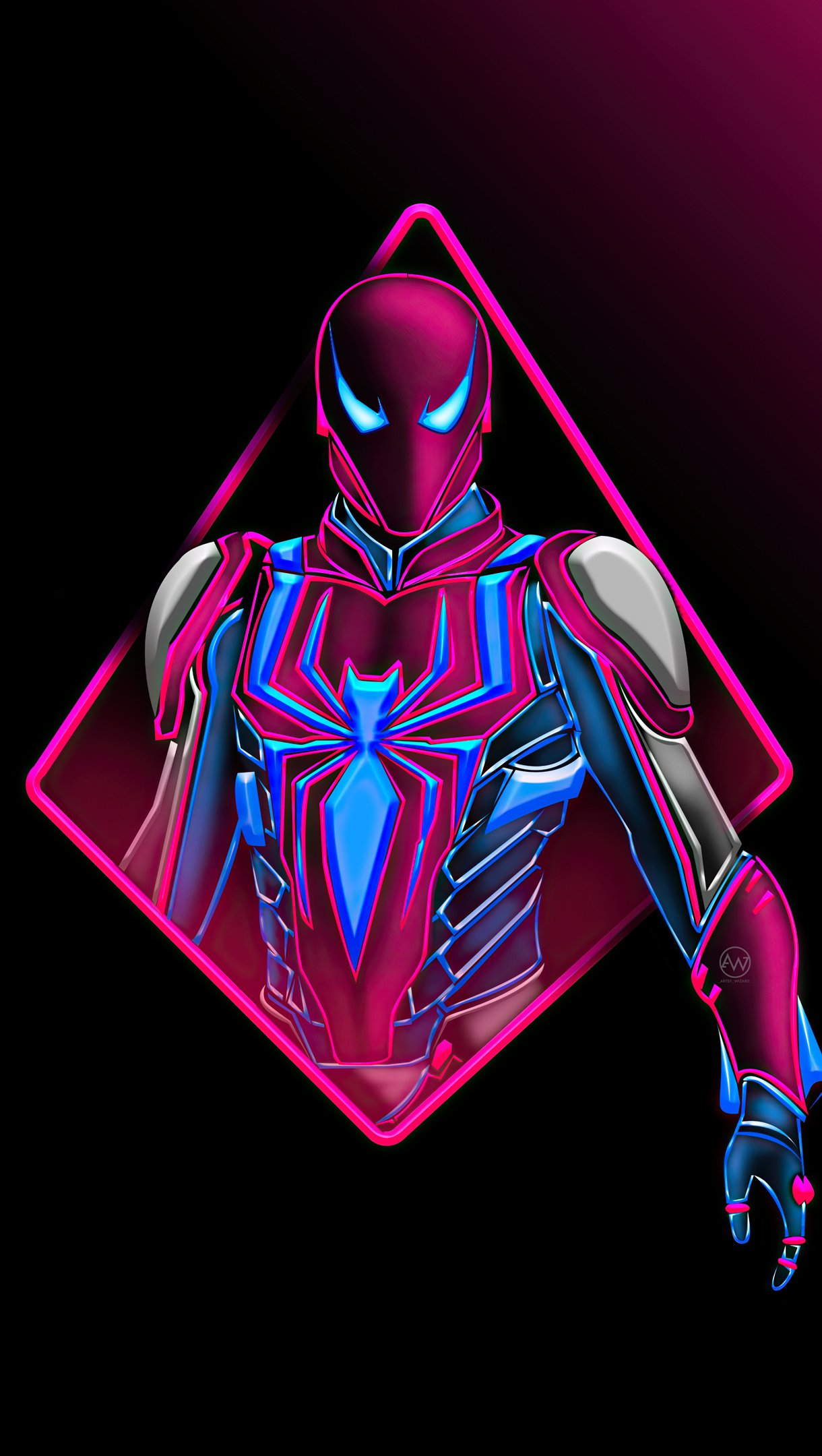 Wallpaper Spider Man Suit Minimal Vertical