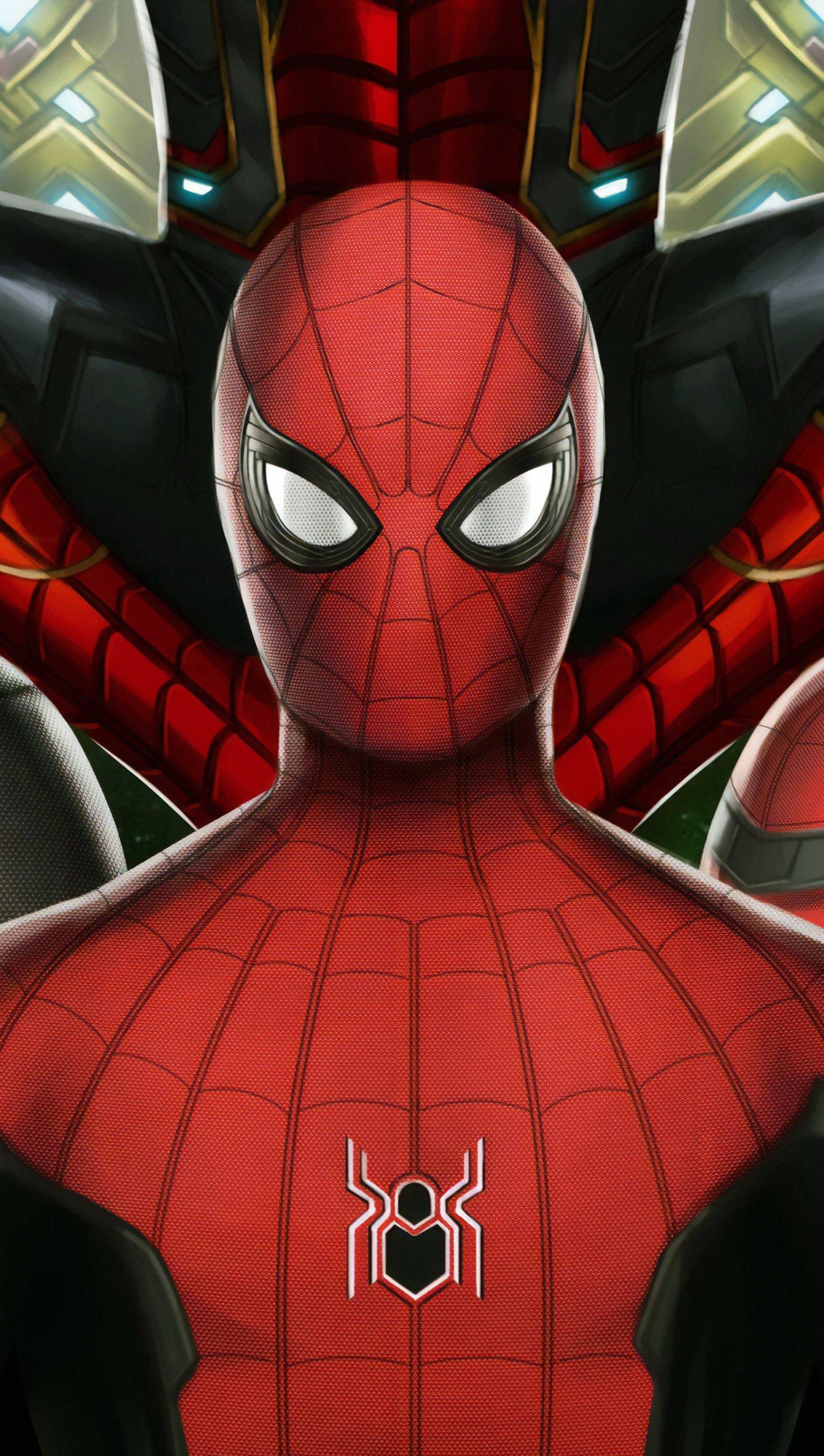 Fondos de pantalla Trajes de Spiderman Lejos de casa Vertical