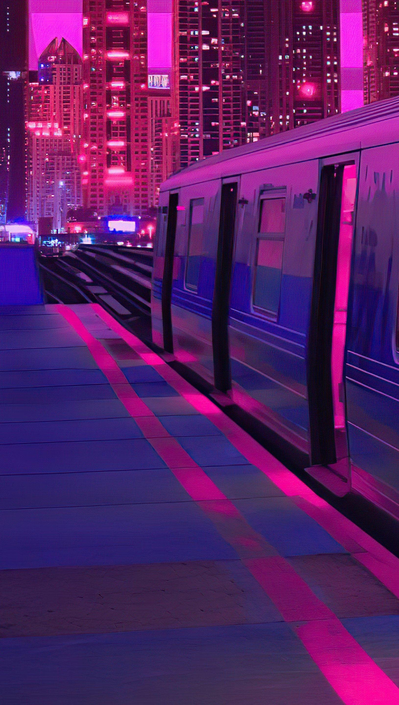 Fondos de pantalla Tren en una ciudad Vertical