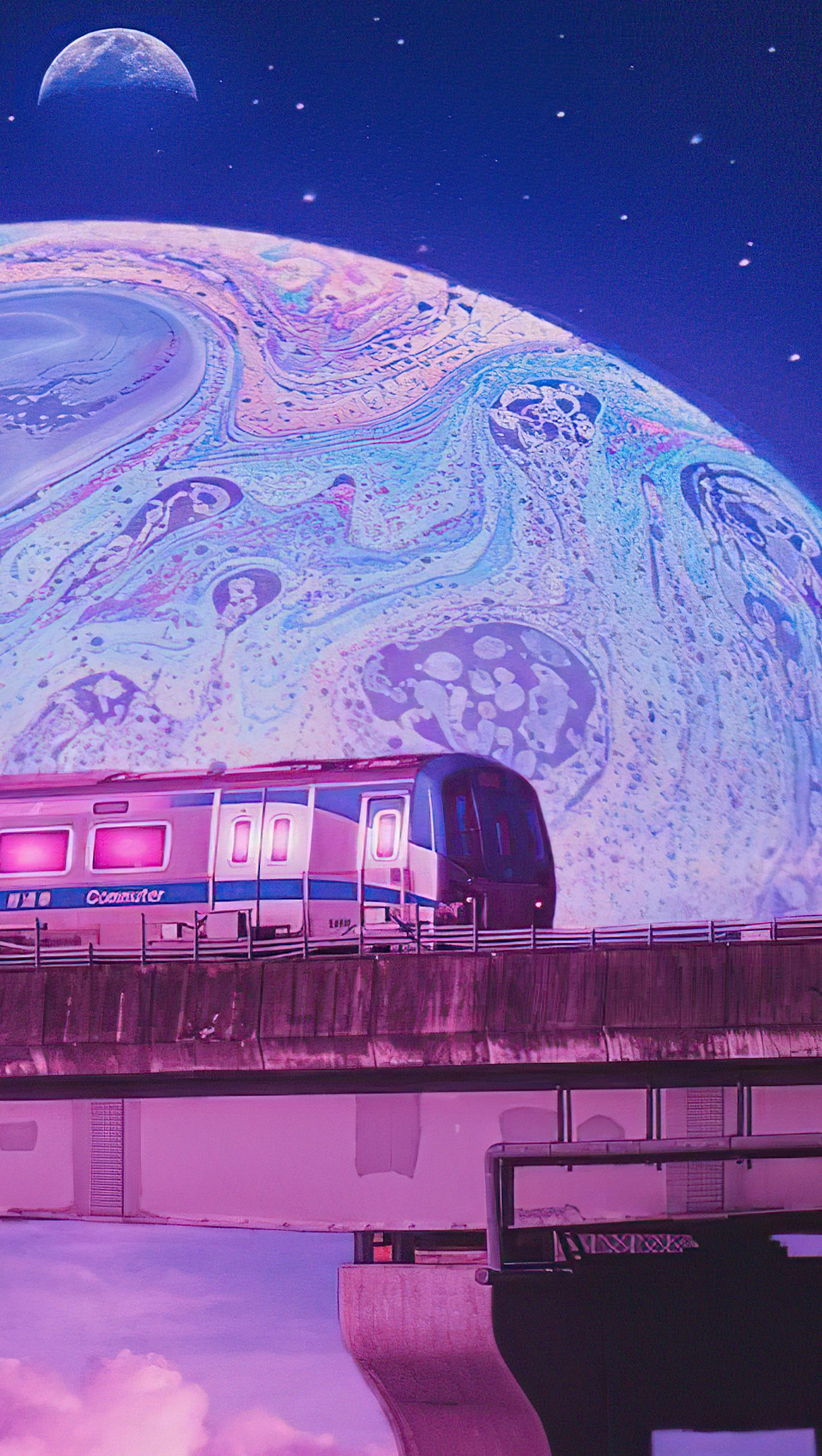 Wallpaper Train outside this planet Vertical