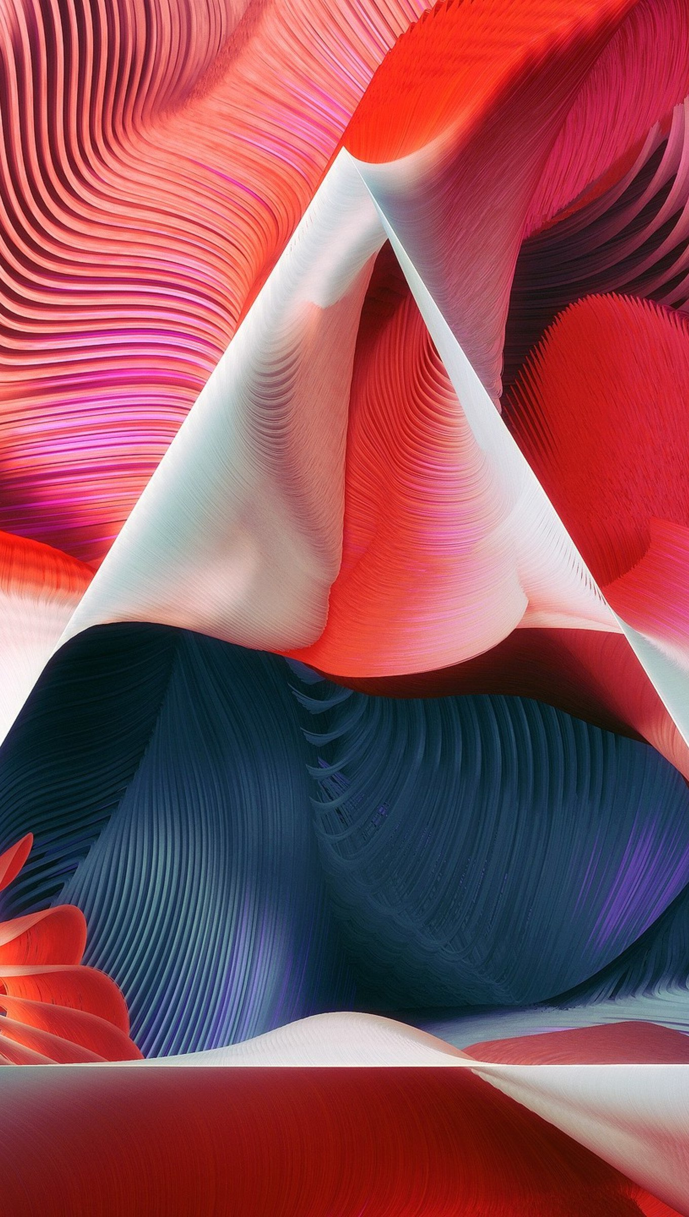 Wallpaper Abstract Triangle with textures Vertical