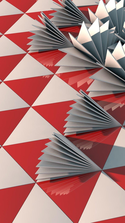 Fondos de pantalla Triangulos en 3D Abstracto Vertical