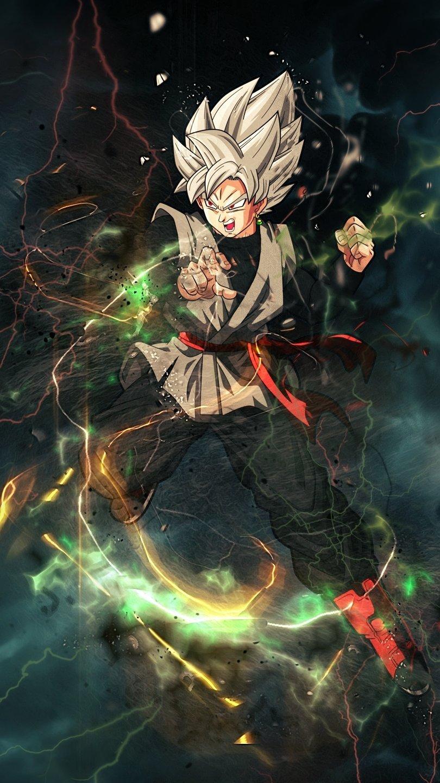 Anime Wallpaper Thunder Goku Black Dragon Ball Super Vertical