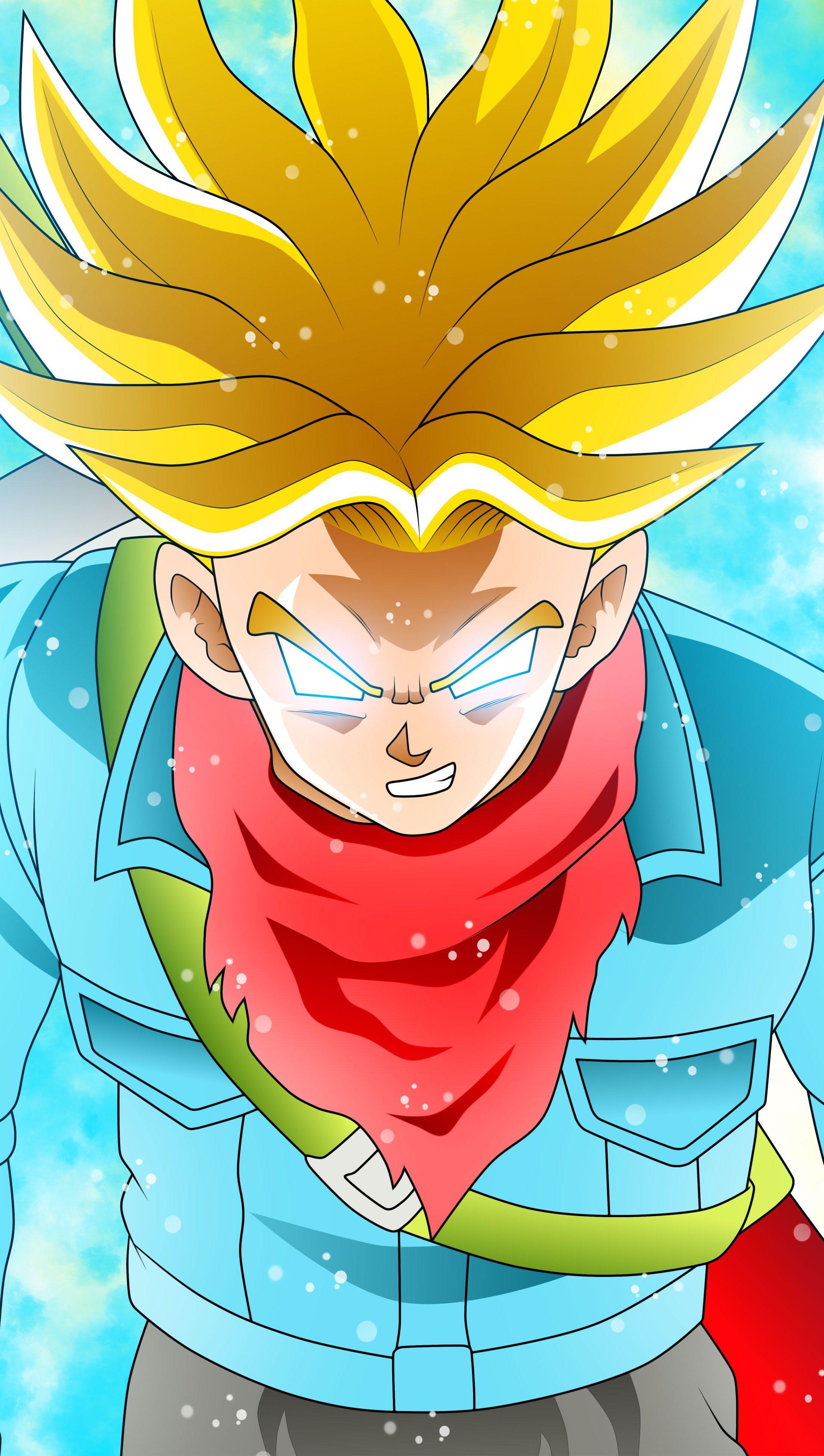 Fondos de pantalla Anime Trunks Super Saiyan Rage en Dragon Ball Super Vertical
