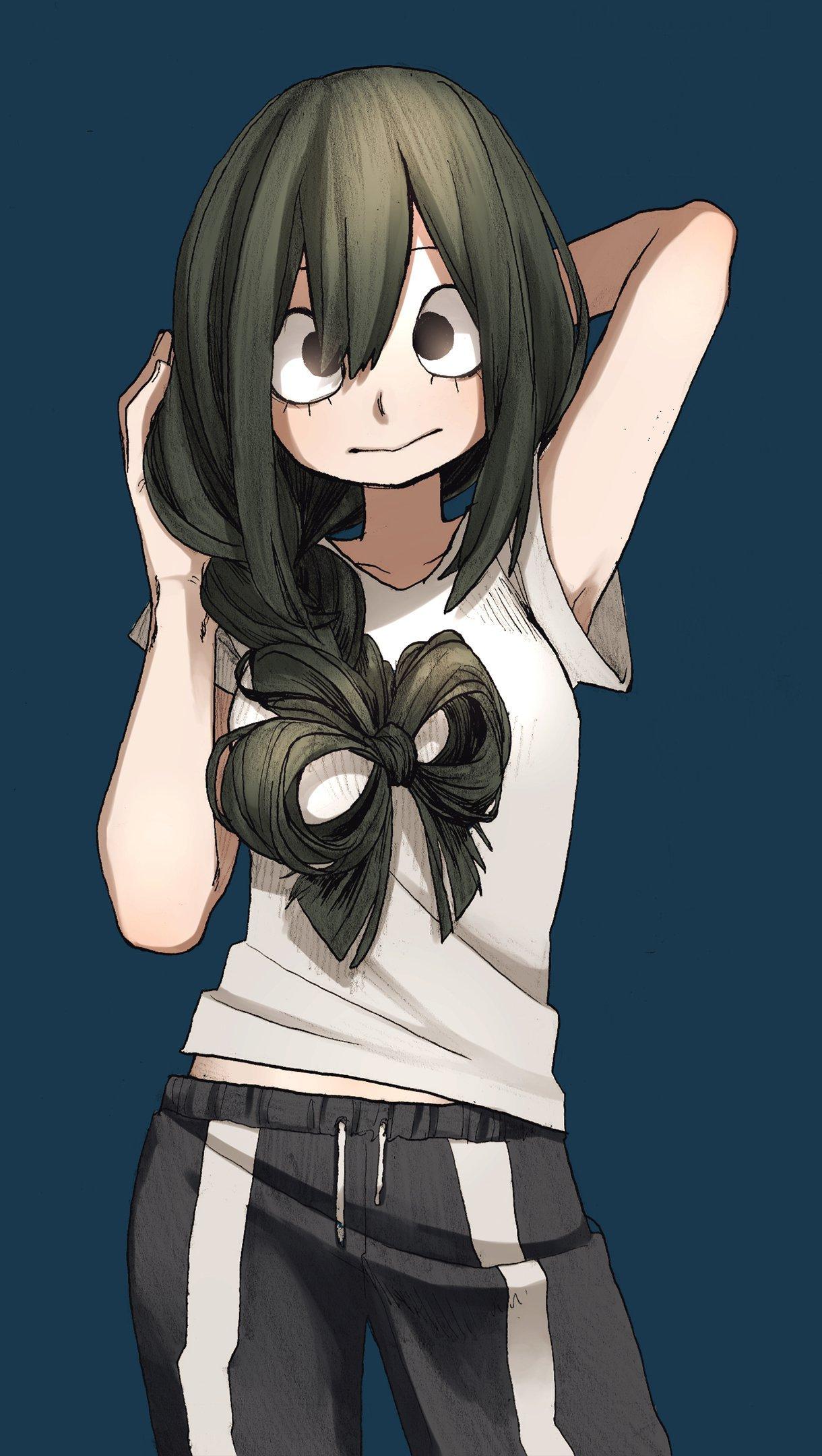 Anime Wallpaper Tsuyu Asui from My Hero Academia Vertical
