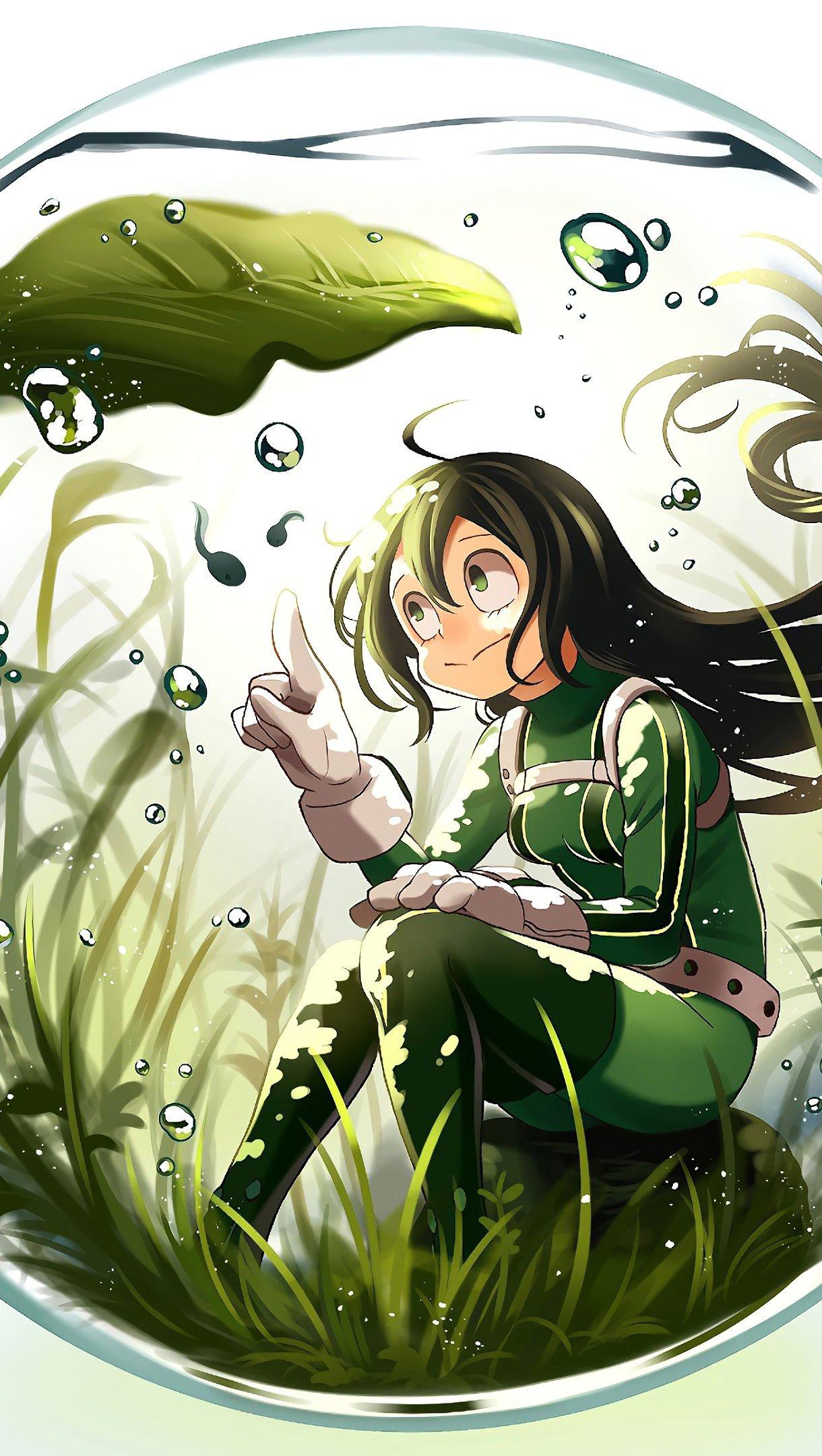 Fondos de pantalla Anime Tsuyu Asui My Hero Academia Vertical