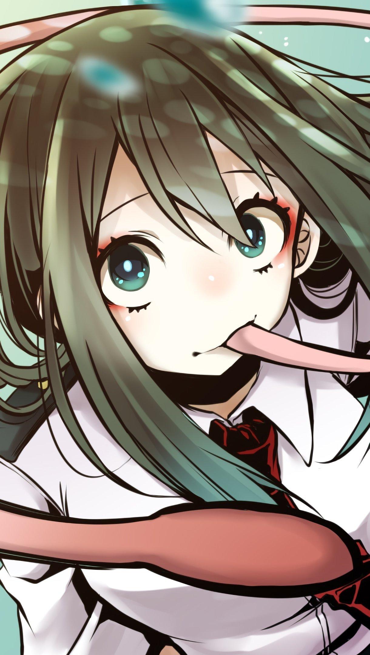Anime Wallpaper Tsuyu Asui My Hero Academia Vertical