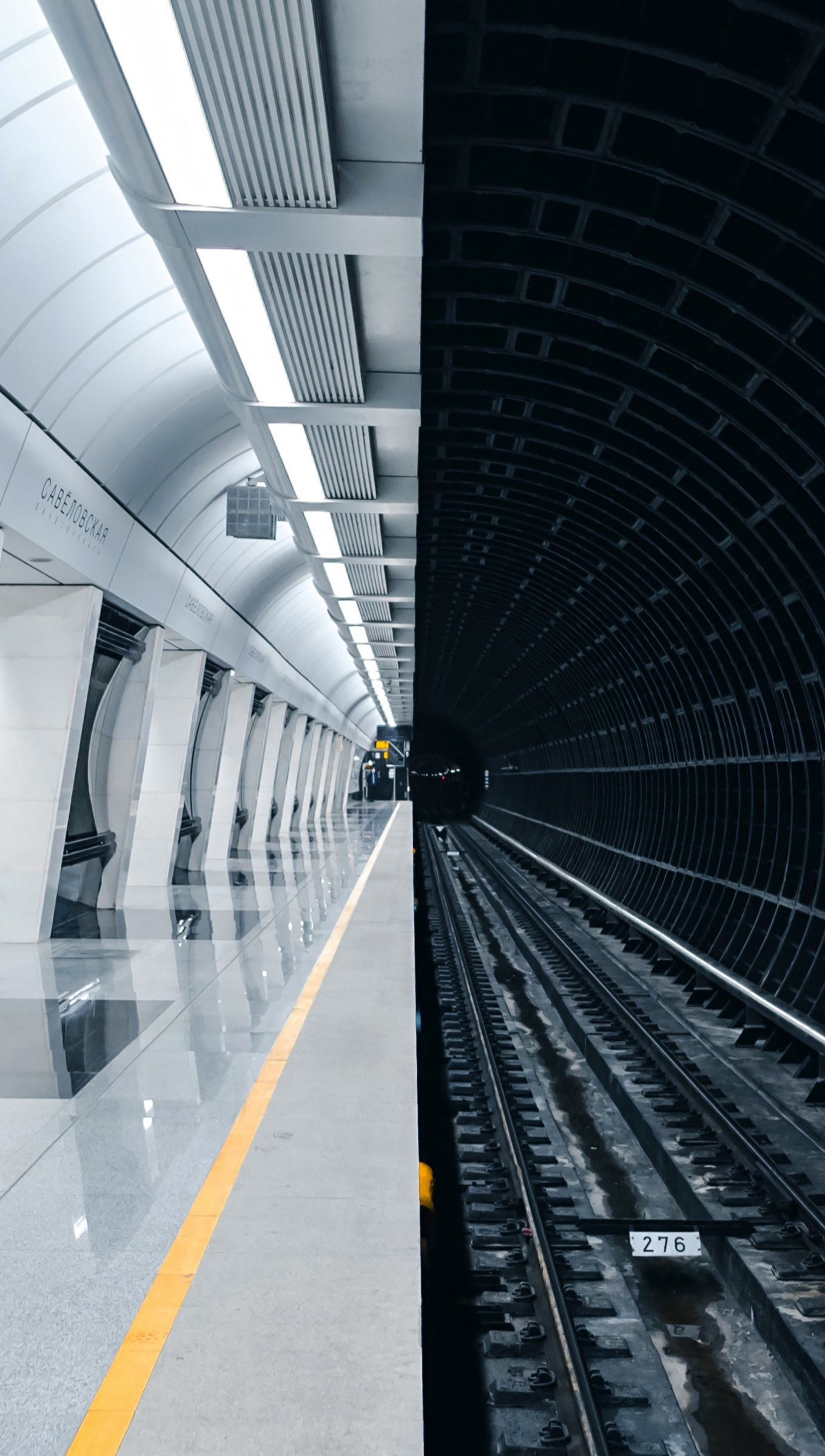 Fondos de pantalla Tunel de estación de metro Vertical