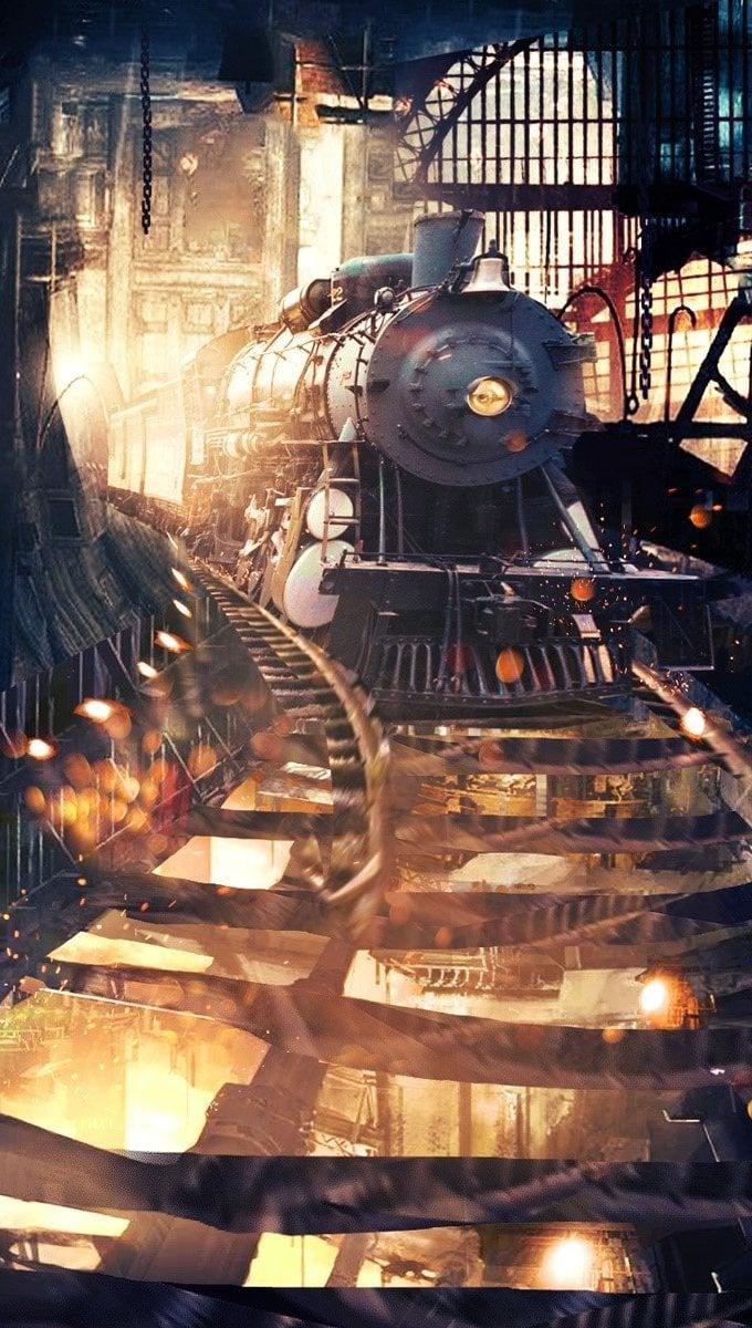 Fondos de pantalla Tunel del tren Vertical