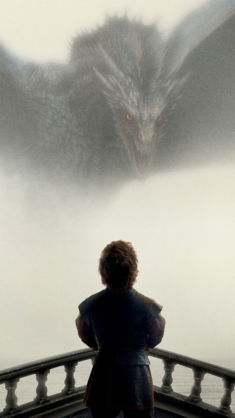 Wallpaper Tyrion and Drogon from Game of Thrones Vertical