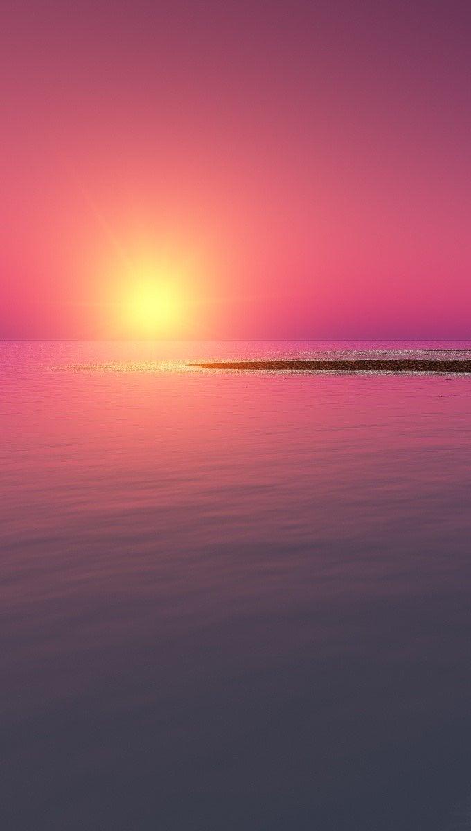 Wallpaper A digital sunset Vertical