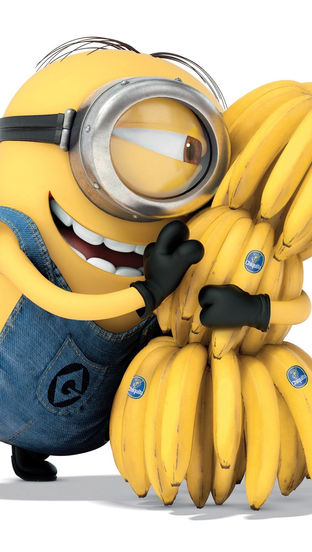 Wallpaper A minion with bananas Vertical