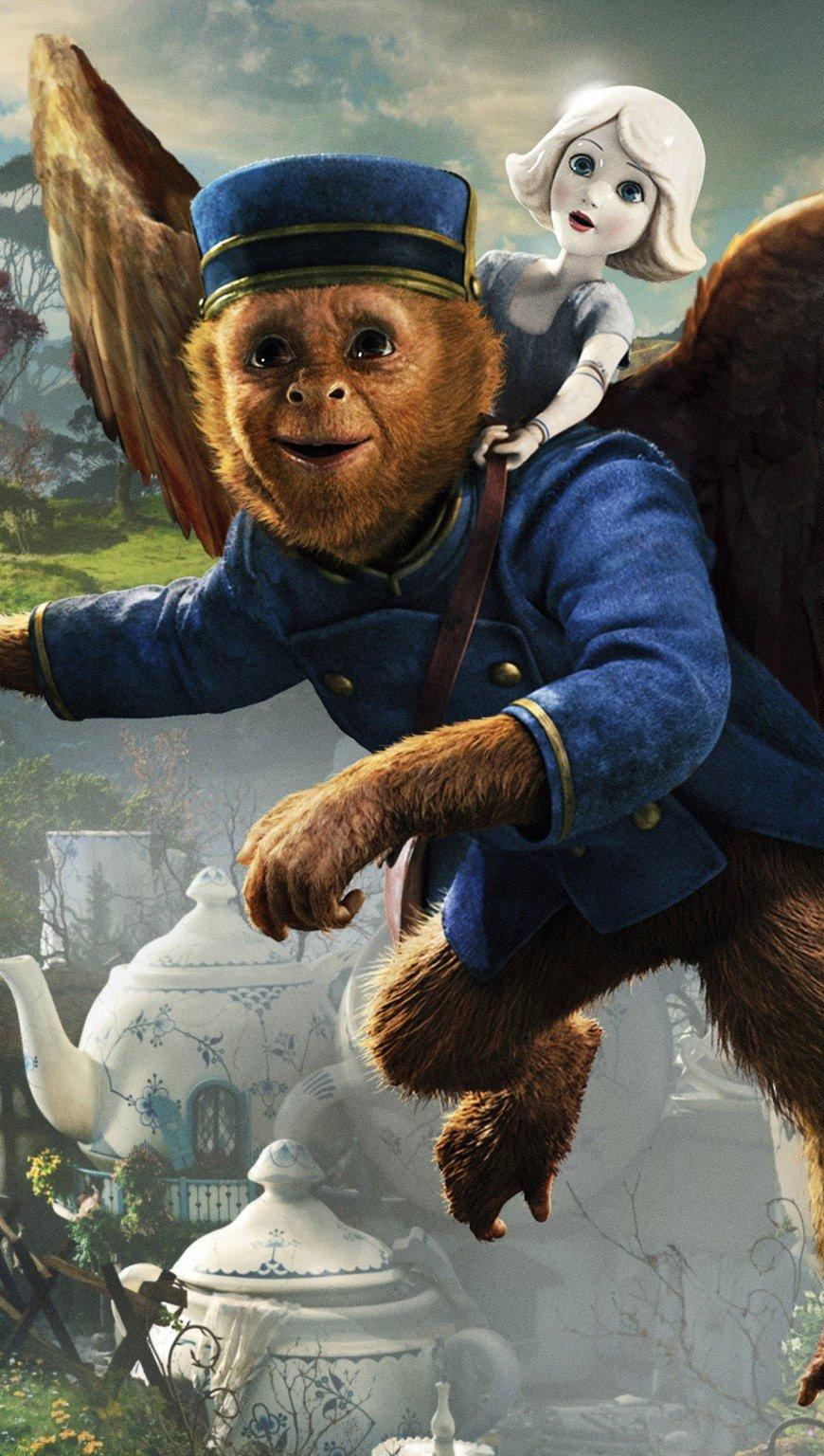 Fondos de pantalla Un mono volador y una muñeca Vertical